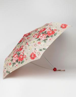 Cath Kidston Зонт овсяного цвета с розами Minilite 2. Цвет: мульти