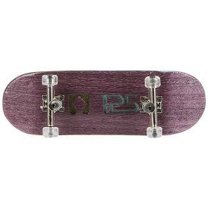 Фингерборд Turbo-Fb П10 Wide 32м с деревянным боксом Purple/Silver/Clear. Цвет: фиолетовый,серый