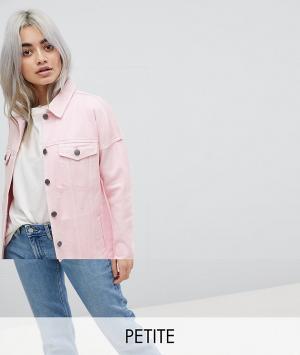 Noisy May Petite Джинсовая куртка. Цвет: розовый