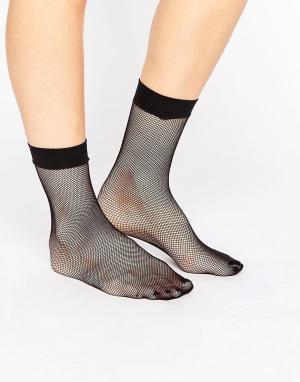 ASOS Сетчатые носки. Цвет: черный