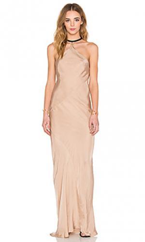 Платье с приспущенной талией drop TITANIA INGLIS. Цвет: беж
