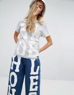 House of Holland Футболка с большим логотипом X Lee. Цвет: серый