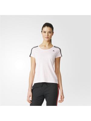 Футболка спортивная жен. ESS 3S SLIM TEE Adidas. Цвет: розовый