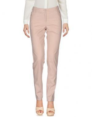 Повседневные брюки KORALLINE. Цвет: телесный