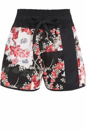 Мини-шорты с эластичным поясом и цветочным принтом Rag&Bone. Цвет: разноцветный