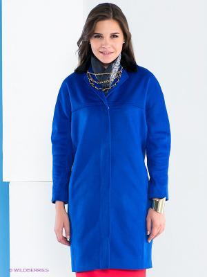 Пальто Say. Цвет: синий