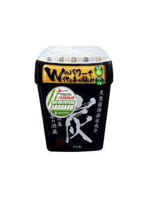Поглотитель запаха гелевый NAGARA с бамбуковым углем и зеленым чаем 320 гр. Цвет: черный