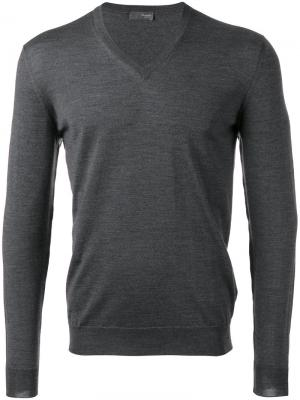 V-neck jumper Drumohr. Цвет: серый