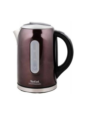 Чайник Tefal KI410B30 серебристый 1.5л. 2400Вт (нержавеющая сталь). Цвет: бордовый
