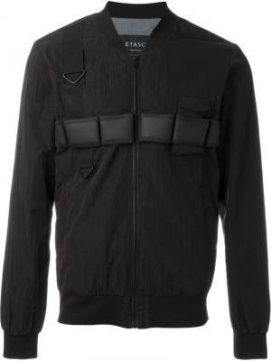 Куртка-бомбер Letasca. Цвет: чёрный