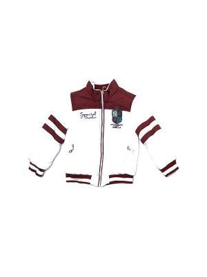 Куртка для мальчиков Pilota. Цвет: белый, бордовый