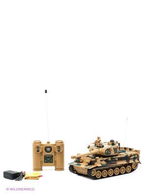 Танк радиоуправляемый  TIGER (Германия) Пламенный мотор. Цвет: коричневый, зеленый, темно-коричневый