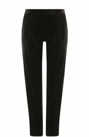 Бархатные брюки прямого кроя Elie Saab. Цвет: черный