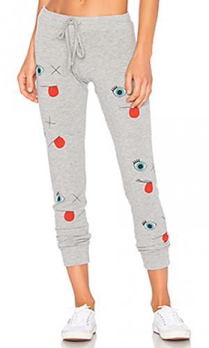 Классические спортивные брюки kizzy smile please Lauren Moshi. Цвет: серый