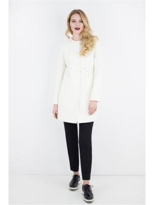 Пальто Elema. Цвет: молочный