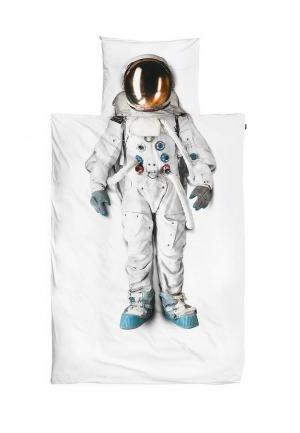 Комплект постельного белья 1,5-спальный Snurk. Цвет: белый