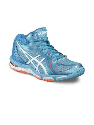 Спортивная обувь GEL-VOLLEY ELITE 3 MT ASICS. Цвет: синий, белый, оранжевый
