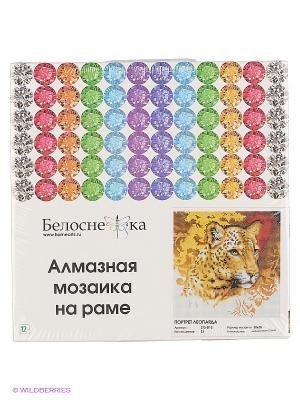 Мозаика на подрамнике. Портрет леопарда (273-ST-S) Белоснежка. Цвет: белый