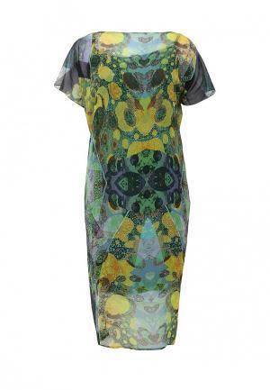 Платье D.VA. Цвет: зеленый