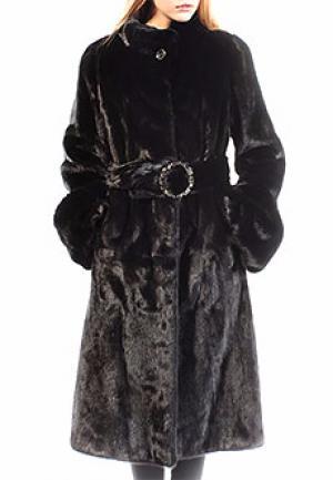 Пальто мех MALA MATI. Цвет: черный