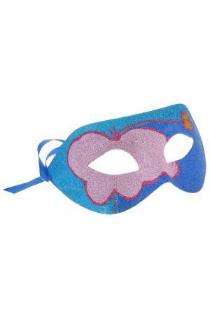 Карнавальная маска Бабочки MAGIC HOME. Цвет: голубой, желтый