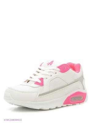 Кроссовки Ascot. Цвет: белый, розовый, серебристый