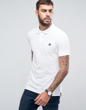 PS by Paul Smith Белая облегающая футболка-поло с логотипом. Цвет: белый