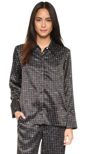 Рубашка Damn Fine Crossword с заостренным воротником Recliner. Цвет: кроссворд