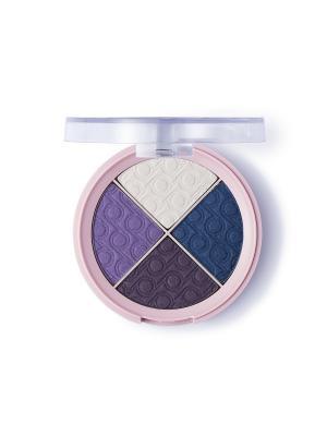Палитра теней Pretty тон 06 Темно-фиолетовый Flormar. Цвет: темно-фиолетовый