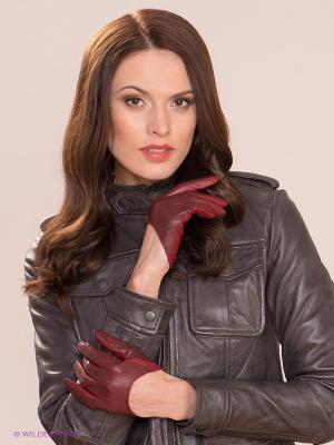 Перчатки MICHEL KATANA`. Цвет: темно-красный