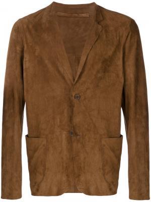 Куртка-блейзер Salvatore Santoro. Цвет: коричневый