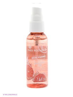 Освежающий спрей для лица Розовый Грейпфрут Yves Rocher. Цвет: розовый