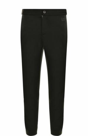 Шерстяные брюки с лампасами Z Zegna. Цвет: темно-зеленый