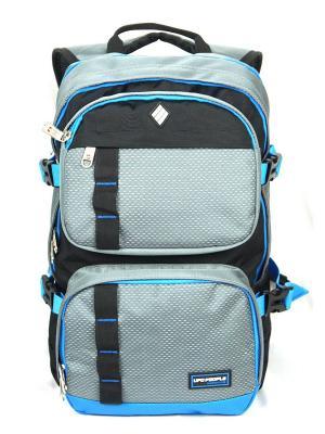 Рюкзак UFO PEOPLE. Цвет: серый, голубой, черный