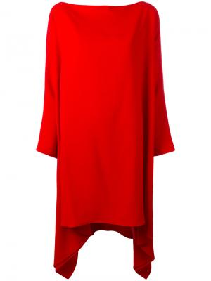 Объемное платье с драпировкой Gianluca Capannolo. Цвет: красный