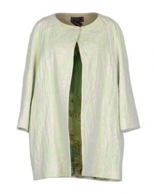 Легкое пальто FEMME by MICHELE ROSSI. Цвет: кислотно-зеленый