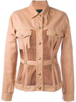 Пиджак с вырезными панелями Junior Gaultier. Цвет: коричневый