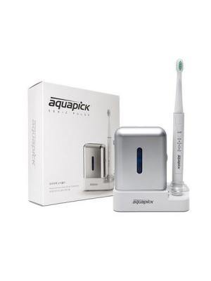 Электрическая (звуковая) зубная щетка AQ-110., Aquapick. Цвет: серебристый, белый
