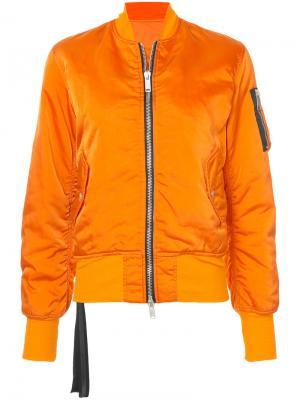 Куртка-бомбер Unravel Project. Цвет: жёлтый и оранжевый