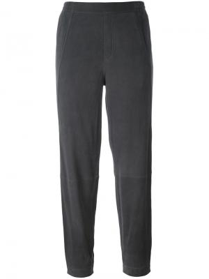 Укороченные зауженные брюки Steffen Schraut. Цвет: серый
