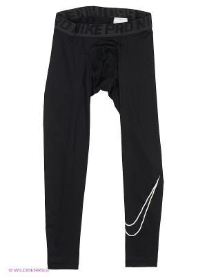 Тайтсы COOL HBR COMP TIGHT YTH Nike. Цвет: серый, черный