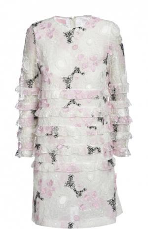 Платье Giamba. Цвет: разноцветный