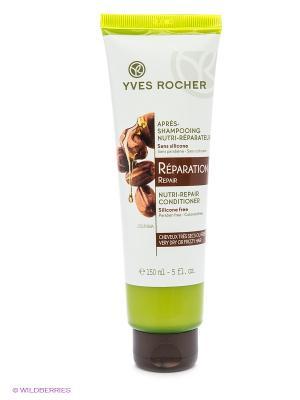 Бальзам-ополаскиватель для восстановления волос с Жожоба и Миндалем Yves Rocher. Цвет: белый