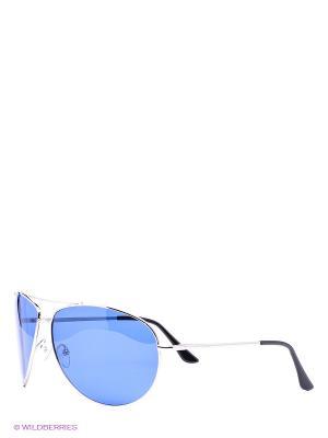 Солнцезащитные очки Vittorio Richi. Цвет: голубой, серебристый