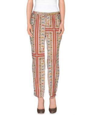Повседневные брюки JANIS. Цвет: бежевый