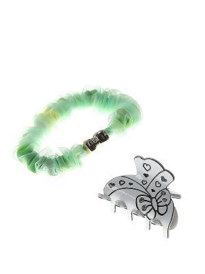 Аксессуары для волос (Заколка краб, резинка) Migura. Цвет: зеленый, белый