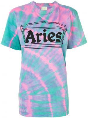 Футболка с принтом логотипа Aries. Цвет: многоцветный