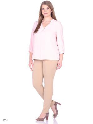 Блузка Falinda. Цвет: бледно-розовый