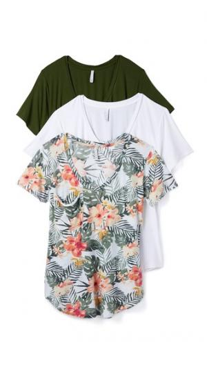 Комплект из трех футболок Tropical Z Supply. Цвет: мульти
