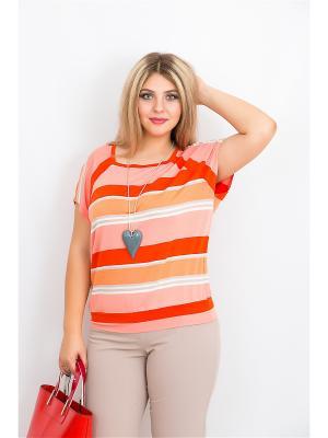 Блуза BALSAKO. Цвет: персиковый